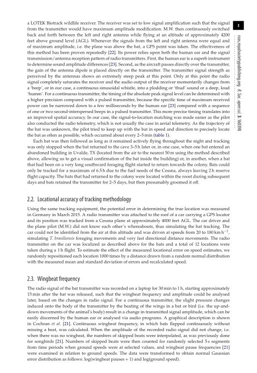 Locational accuracy of tracking methodology | Page 2