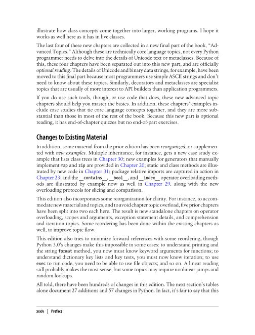 Changes to Existing Material | Page 5