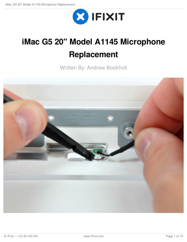 """iMac G5 20"""" Model A1145 Microphone Replacement"""