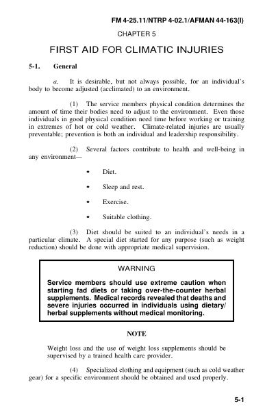 CHAPTER 5 FIRST AID FOR CLIMATIC INJURIES | Page 9