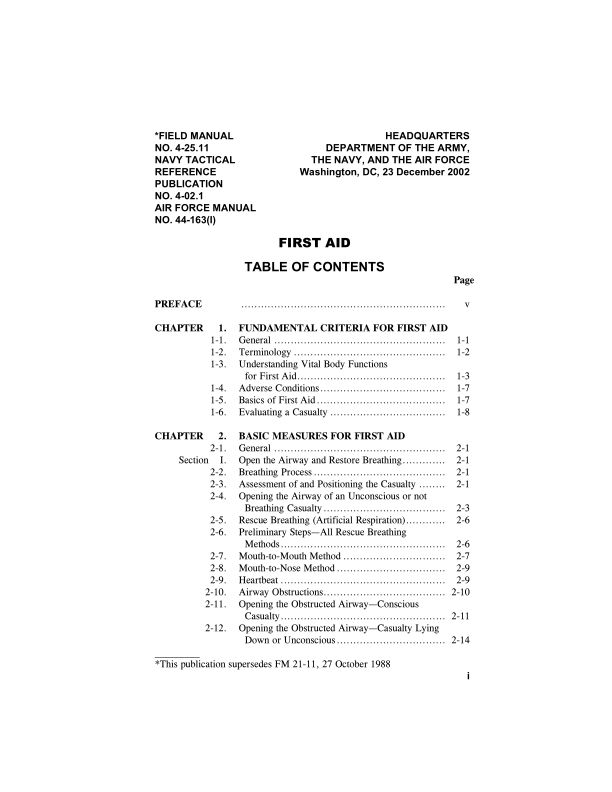 TABLE OF CONTENTS | Page 0