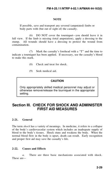Section III. CHECK FOR SHOCK AND ADMINISTER FIRST AID MEASURES | Page 6