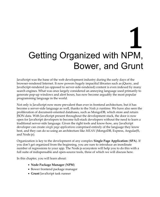 Chapter 1: Getting Organized with NPM, Bower, and Grunt | Page 8