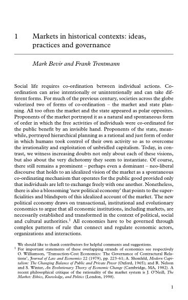 1 Markets in historical contexts: ideas, practices and governance   Page 7