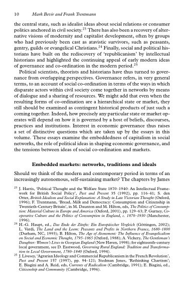 Embedded markets: networks, traditions and ideals   Page 9