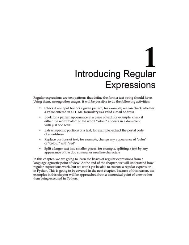Chapter 1: Introducing Regular Expressions | Page 8