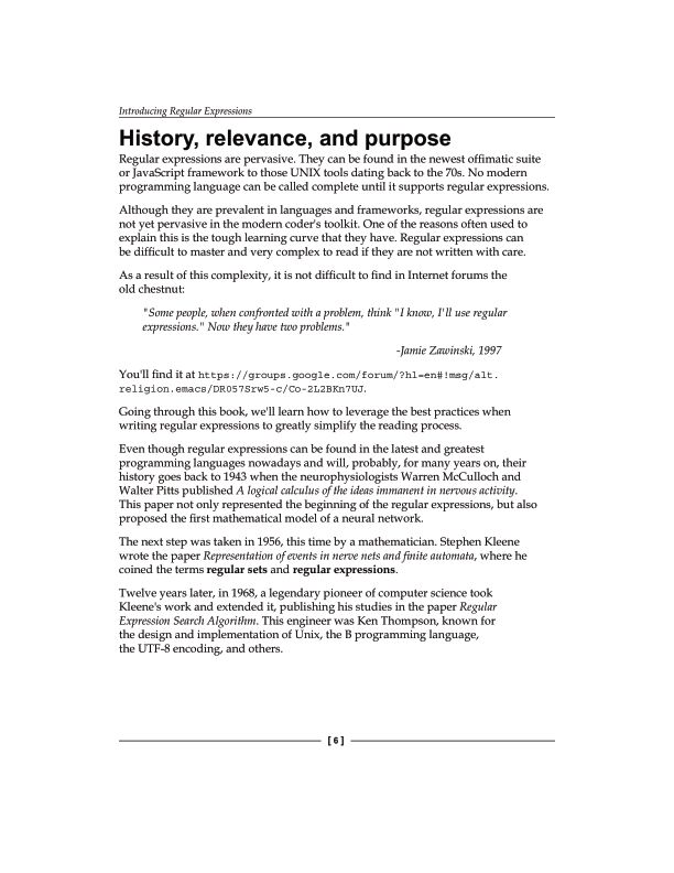 History, relevance, and purpose | Page 9