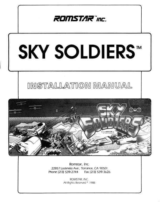 Sky Soldiers - Arcade - Manual - gamesdatabase.org