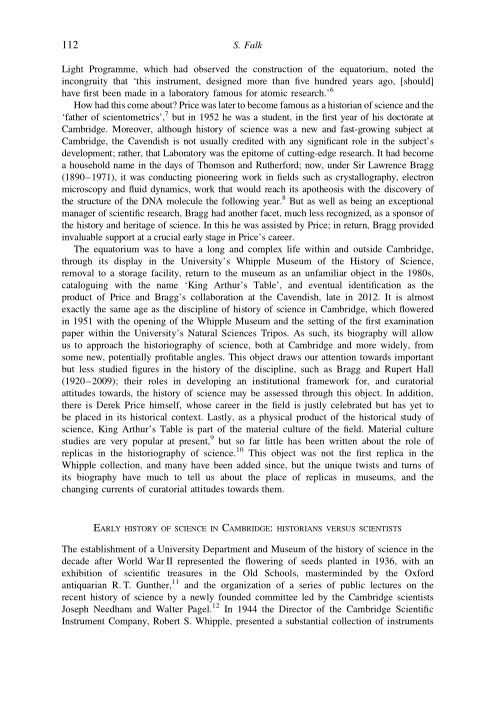 Early history of science in Cambridge: historians versus scientists | Page 0