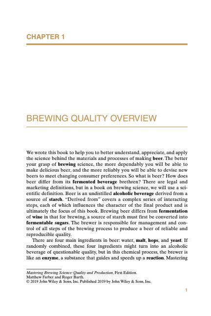 CHAPTER 1 BREWING QUALITY OVERVIEW | Page 6