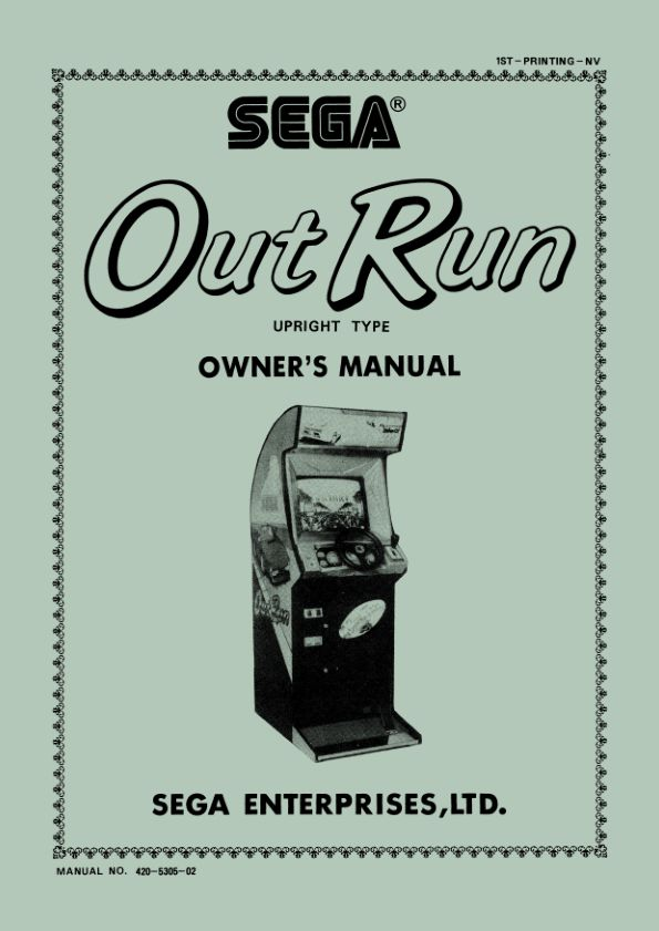 Out Run - Arcade - Manual - gamesdatabase.org