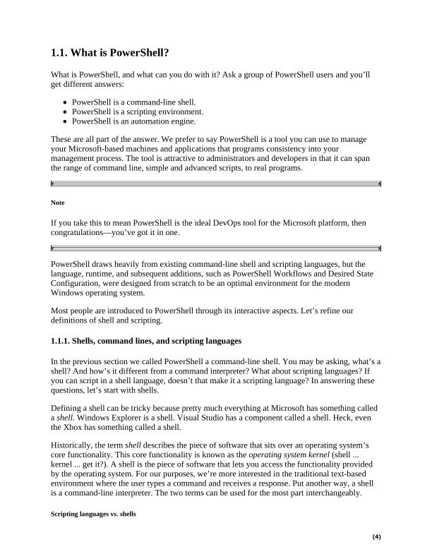 1.1. What is PowerShell? | Page 10