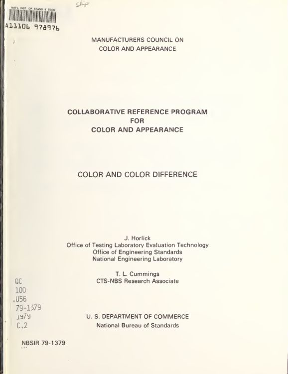 Collaborative reference program for color and appearance: color and color difference