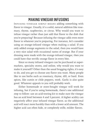 Making Vinegar Infusions   Page 10