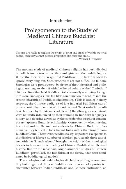 Introduction: Prolegomenon to the Study of Medieval Chinese Buddhist Literature | Page 4