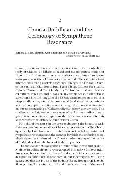 2. Chinese Buddhism and the Cosmology of Sympathetic Resonance | Page 7