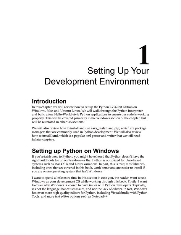 Chapter 1: Setting Up Your Development Environment | Page 8