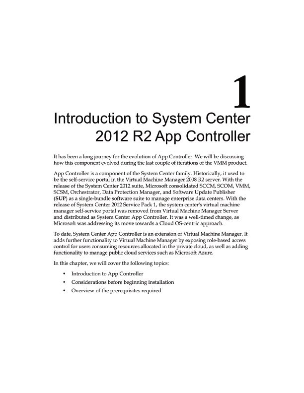 Chapter 1: Introduction to System Center 2012 R2 App Controller | Page 8