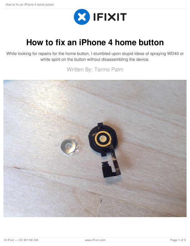How to fix an iPhone 4 home button