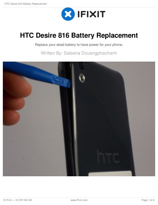 HTC Desire 816 Battery Replacement