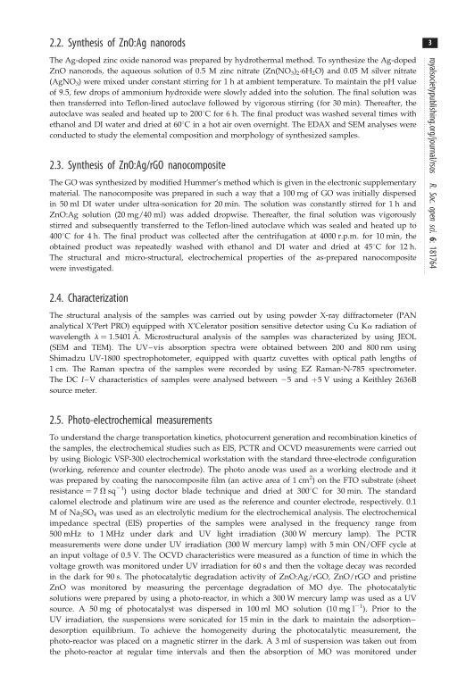 Synthesis of ZnO:Ag nanorods | Page 2