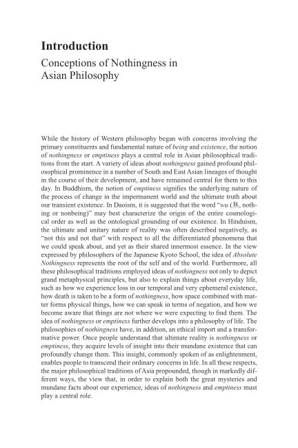 Introduction: Conceptions of Nothingness in Asian Philosophy | Page 5
