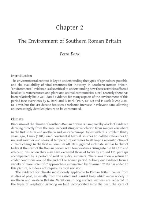 2. The Environment of Southern Roman Britain | Page 6