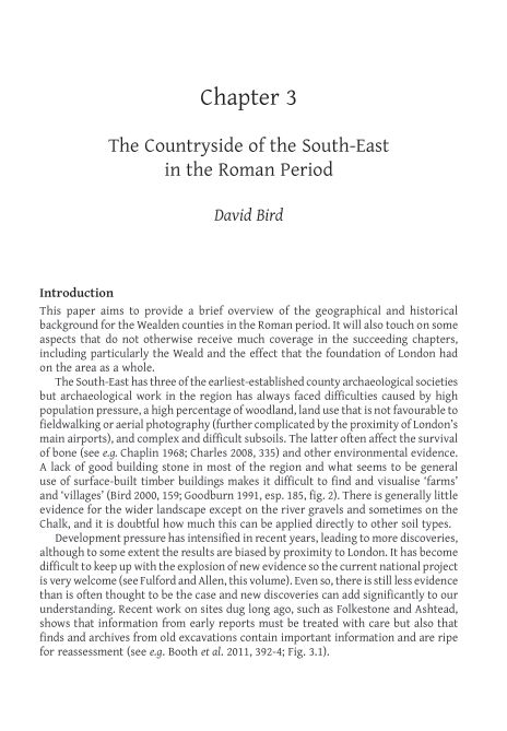 3. The Countryside of the South-East in the Roman Period | Page 7