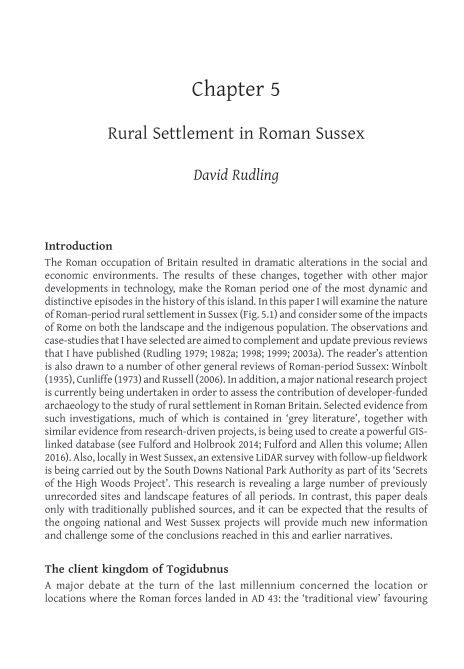 5. Rural Settlement in Roman Sussex | Page 9