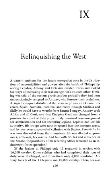 IX. Relinquishing the West | Page 9