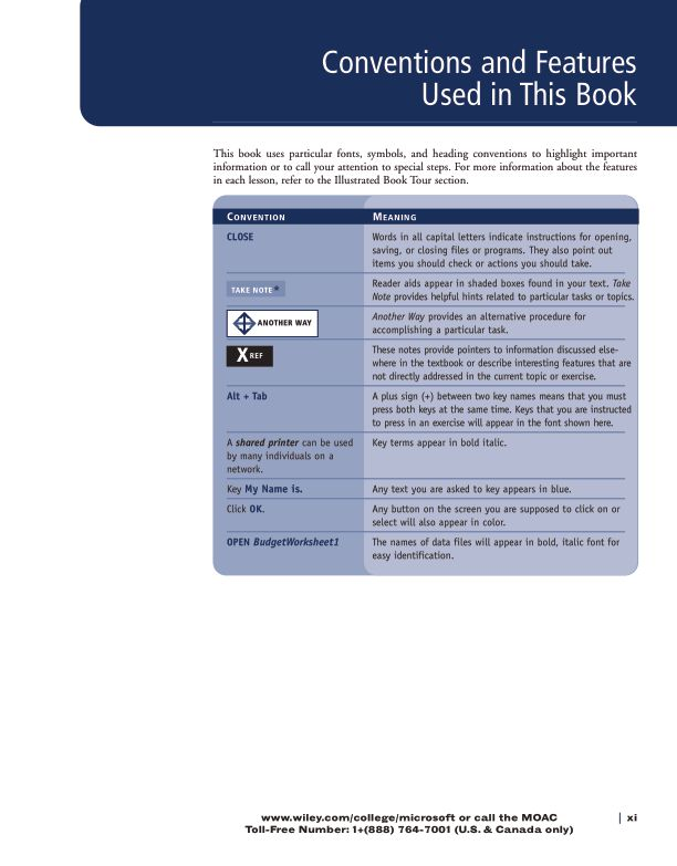 Conventions and Features Used in This Book | Page 5