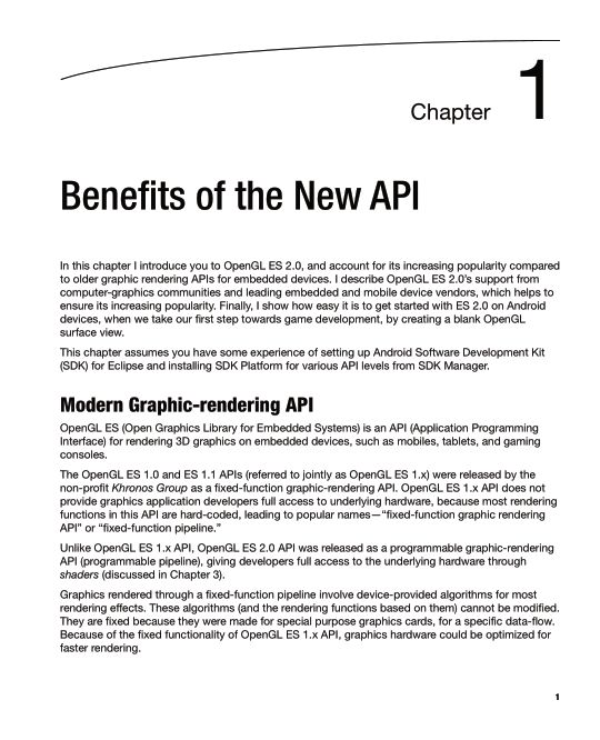 Chapter 1: Benefits of the New API | Page 6