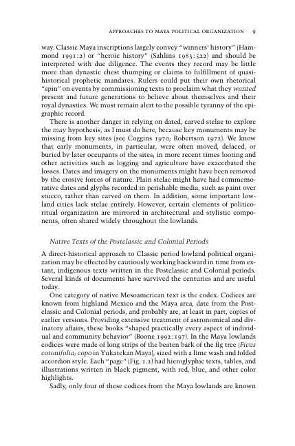 Native Texts of the Postclassic and Colonial Periods   Page 9