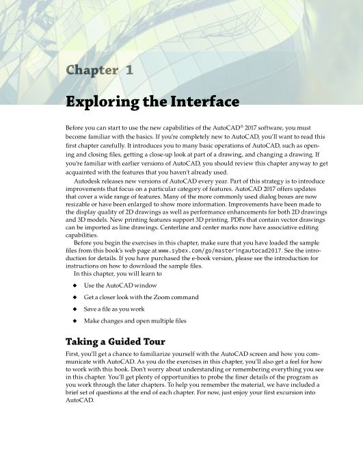 Chapter 1 Exploring the Interface   Page 7