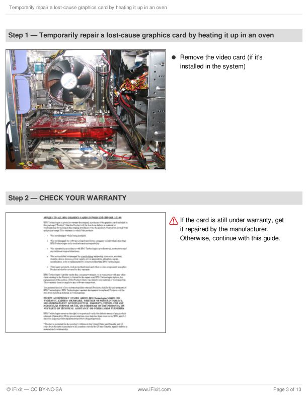 Step 1 — Temporarily repair a lost-cause graphics card by heating it up in an oven | Page 3