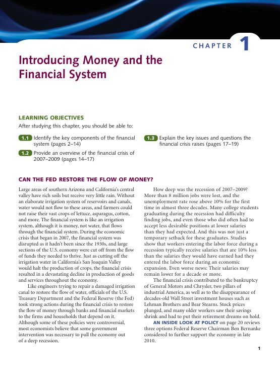 Chapter 1 Introducing Money and the Financial System | Page 6