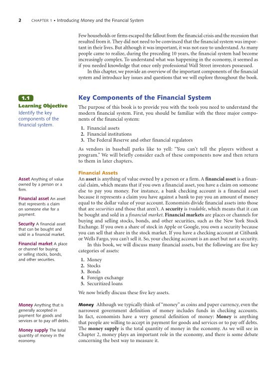1.1 Key Components of the Financial System | Page 8