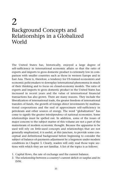 2 Background Concepts and Relationships in a Globalized World | Page 8