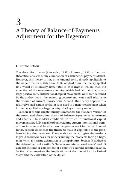 3 A Theory of Balance-of-Payments Adjustment for the Hegemon | Page 9