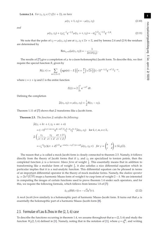 Formulae of Lau & Zhou in the (2,3,6) case | Page 3