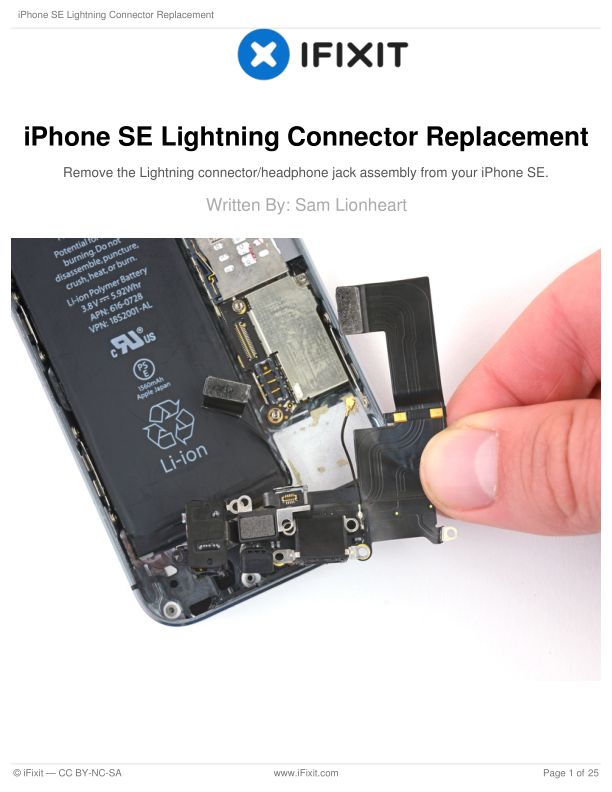 iPhone SE Lightning Connector Replacement