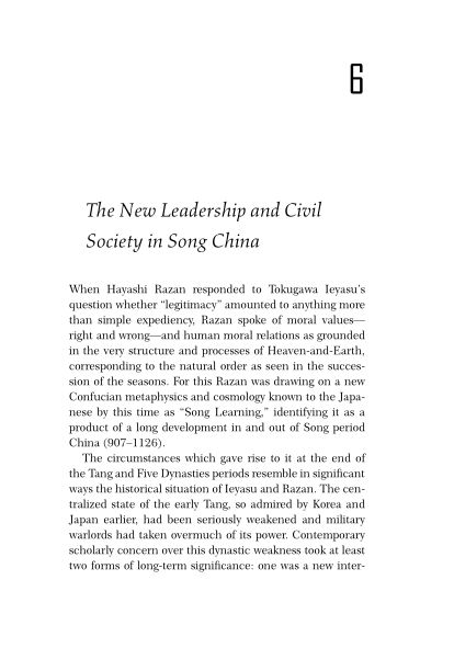 6. The New Leadership and Civil Society in Song China   Page 7