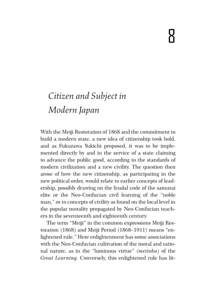 8. Citizen and Subject in Modern Japan   Page 9