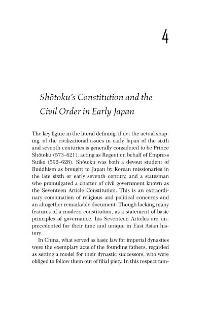 4. Shotoku's Constitution and the Civil Order in Early Japan   Page 5