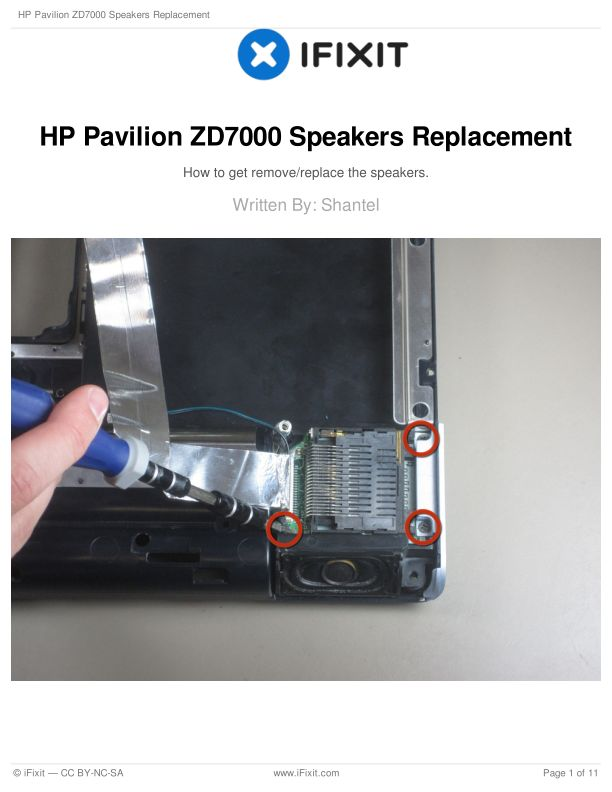 HP Pavilion ZD7000 Speakers Replacement