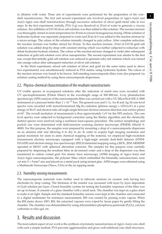 Physico-chemical characterization of the resultant nanostructures   Page 3