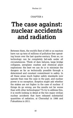 4. The case against: nuclear accidents and radiation   Page 7