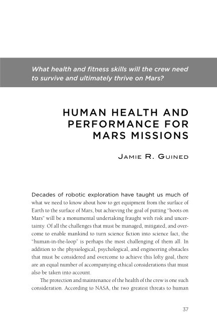 What health and fitness skills will the crew need to survive and ultimately thrive on Mars? | Page 7