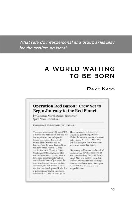 What role do interpersonal and group skills play for the settlers on Mars? | Page 9