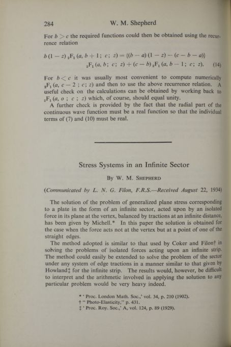 Stress systems in an infinite sector